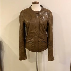 Butter soft brown leather jacket